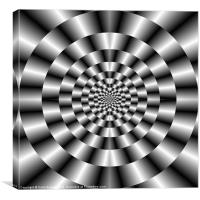 Concentric Rings in Monochrome, Canvas Print