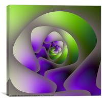 Labyrinth in Green and Purple, Canvas Print