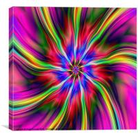 Swirling Star, Canvas Print