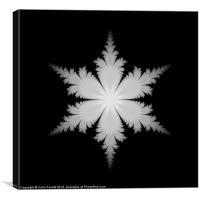 Fractal Snowflake, Canvas Print
