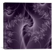 Purple and White Twist, Canvas Print