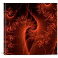 Burning Orange Twist, Canvas Print