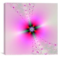 Floral Sprays in Pink and Green, Canvas Print
