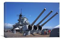 USS Missouri, Canvas Print
