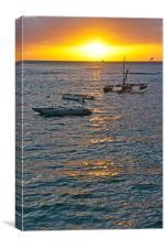 Waikiki Sunset, Canvas Print