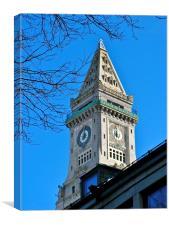 Boston Custom House Tower, Canvas Print