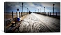 Along the Pier, Canvas Print