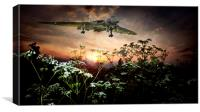 Vulcan Sunset Landing, Canvas Print