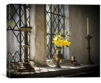 Flowers in the Window, Canvas Print