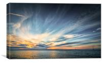 Solo Sailing into the sunset, Canvas Print