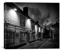 Yarmouth Town at Night, Canvas Print