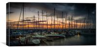 sailboat sunset, Canvas Print