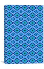 Crayon Love Blue, Canvas Print