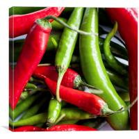Chillies, Canvas Print