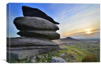 Cornwall: Showery Tor, Canvas Print