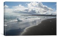 Ice on the beach, Canvas Print