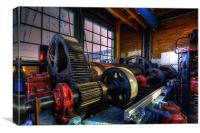 Transporter Winch Room, Canvas Print