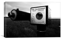 owl Telescope, Canvas Print