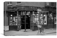 Books and a bike, Canvas Print