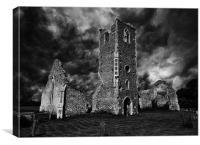 Storm over Ruins, Canvas Print