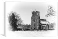 Thompson Church in Winter, Canvas Print