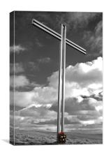 Memorial Cross., Canvas Print