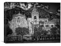 Taromina Square, Canvas Print