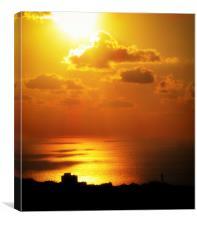 Haifa Sunset, Canvas Print