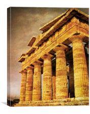 Greek Temple , Canvas Print