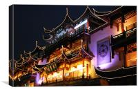 Night in Old Shanghai, Canvas Print