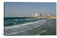 Tel Aviv Beach, Canvas Print