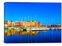 Dunkirk Marina, Canvas Print