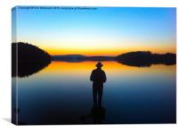 Lower Lough Erne Sunset, Canvas Print