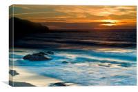 Sunset at Sennen Cove Cornwal, Canvas Print