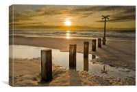 Findhorn Groynes, Canvas Print