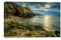 Cummingston Beach, Canvas Print