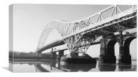 Runcorn Bridge Merseyside BW, Canvas Print