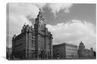 Liverpool Pier Head, Canvas Print
