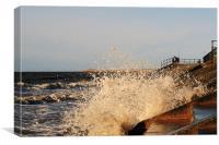 Splashing Waves Crosby Beach, Canvas Print