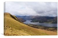 Ullswater From The Mountains, Canvas Print
