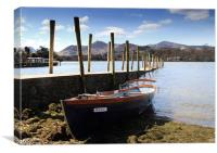 Derwent Water Boat Keswick, Canvas Print