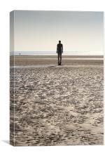 Silhouette Iron Man Crosby Beach, Canvas Print
