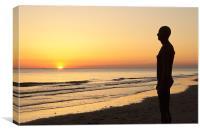 Crosby Beach Iron Man Sunset, Canvas Print