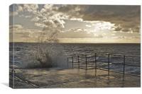 Crosby Beach Wave Splash, Canvas Print
