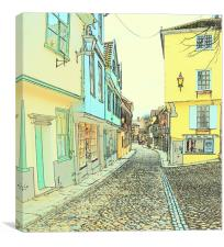 Norwich elm hill, Canvas Print