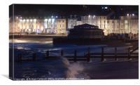 Shoreline, Aberystwyth, Wales, on a stormy night