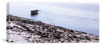 Fishing boat and sparkling seas, Carmarthen Bay