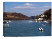 Looe River, Canvas Print