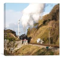 Approaching Corfe, Canvas Print
