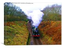 6695 leaving Harmans Cross, Canvas Print